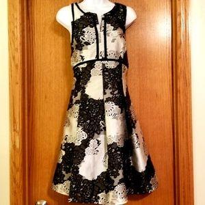 Antonio Melani Black Gray Floral Dress 10